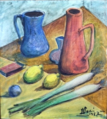 C.V. 1957 Still life  with DVoci Signature